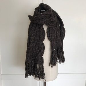 All saints chunky cable scallop scarf